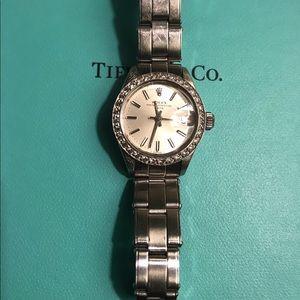 Authentic Rolex Datejust with Diamond Bezel